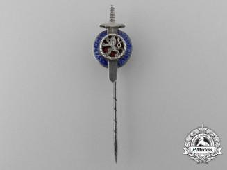 A Second War Czech Military Order of the White Lion Stickpin
