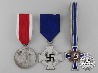 A Lot of Three Third Reich Period Medals, Awards, and Decorations