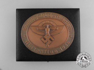A 1938 German National Socialist Flyer Corps Coastal Flight Award Medallion; With Original Case of Issue