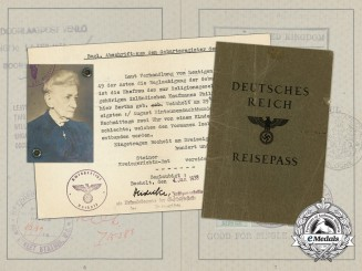 A Third Reich German-Jewish Passport Belonging to Isabella Sara Lilienthal