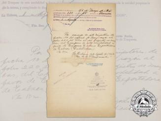 "A 1962 Letter from Dr.Armando Alvarez Azcue Signed by Commander Ernesto ""Che"" Guevara"