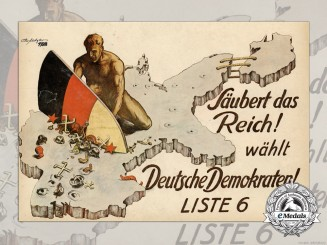 A Rare 1928 Anti-Nazi Election Poster by German Democratic Party