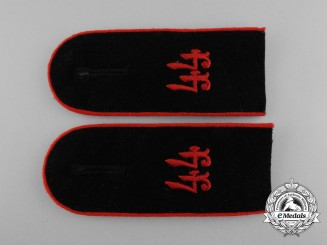 A Mint Matching Pair of Wehrmacht 44th Artillery Division Enlisted Man Shoulder Boards
