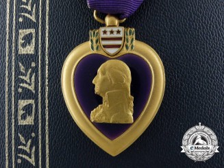 "A Korean War Purple Heart to to August A. ""Gus"" Rothdeutsch, United States Army"