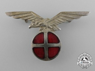 A Second War Norwegian National Unity Party (Nasjonal Samling) Cap Badge