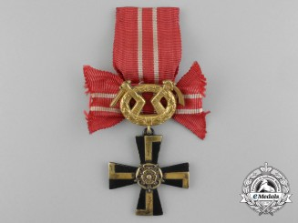 A Finnish Order of the Cross of Liberty; Fourth Class 1939