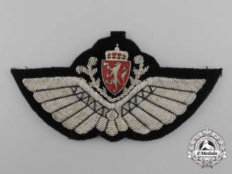 A Second War Royal Norwegian Air Force Pilot Badge