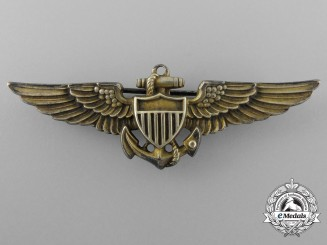 A Second War American Naval Aviator Badge