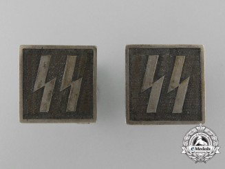 A Set of SS Cufflinks in Nickel-Silver