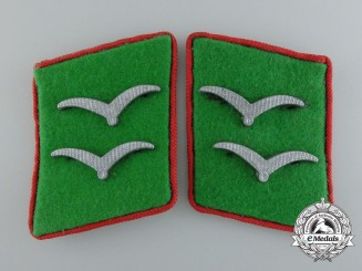 A Pair of Scarce German Luftwaffe Ground Division Collar Tabs