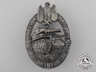 A Sliver Grade Tank Assault Badge by Hermann Aurich