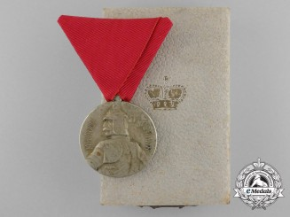 A First War Period Serbian Milosh Obilich Medal for Bravery; Silver Grade with Case