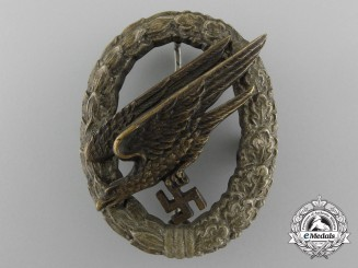 An Early Fallschirmjäger Badge by JMME & SOHN