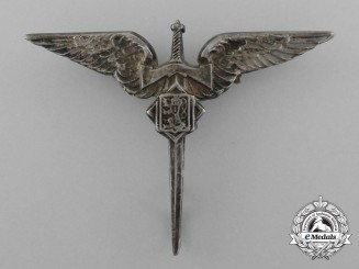 Czechoslovakia, Republic. An Air Force Army Gunner Badge, by Spink & Son, c.1944