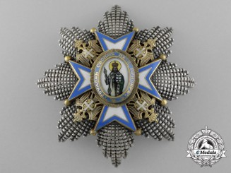 A Serbian Order of St. Sava; Grand Cross Breast Star