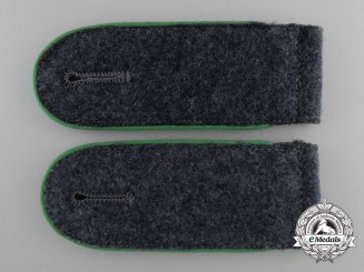 A Pair of Scarce Shoulder Straps for Enlisted; Luftwaffe Ground Division