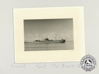 A Large Photograph of Kriegsmarine Minesweeper 26