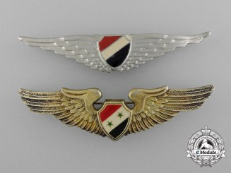 Two Syrian Arab Air Force Pilot Badges