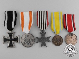 Five German Imperial Medals and Awards