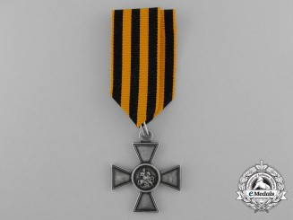 A First War Russian Imperial Saint George Cross; 4th Class