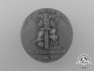 "Germany. A Leipzig ""Day of German Justice"" Badge by Richard Sieper & Söhne"