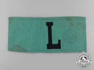 A Second War German Luftschutz Auxiliary Armband