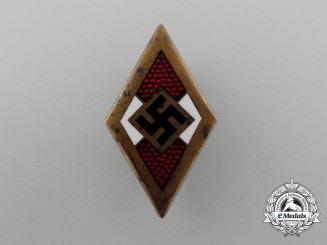 A Golden HJ Member's Honour Badge by Rare Maker Franz Otto