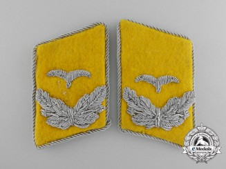 A Set of Luftwaffe Flight Lieutenant Collar Tabs