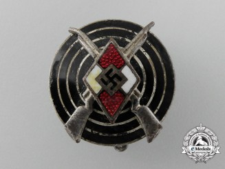 An HJ Shooting Badge by Wilhelm Deumer