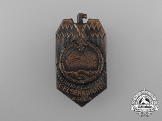 "Germany, Third Reich. A 1934 Gelsenkirchen ""Path of the German East"" Badge"
