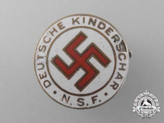 "A National Socialist ""Women's League with German Children"" Membership Badge by Steinhauer & Lück"