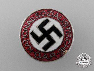 A NSDAP Party Member's Lapel Badge by Rare Maker Apreck & Vrage