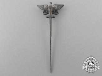 A Scarce Third Reich Period Justice Department Stick Pin by Klotz und Kienast