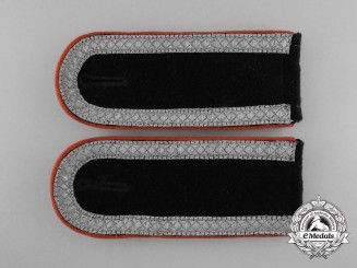 A Mint Matching Pair of Wehrmacht Military Police Unteroffizier's Shoulder Boards