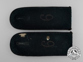 Germany, Wehrmacht. A Set of Pioneer Enlisted Man's Shoulder Boards