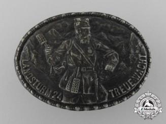 A First War Landwacht 24 Patriotic Cap Badge