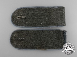 A Pair of Wehrmacht Transportation Troops Enlisted Man's Shoulder Boards