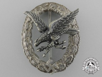 A Early Radio Operator & Air Gunner Badge by Assmann