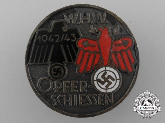 A Rare Winterhilfswerk Tirol Shooting Competition Achievement Badge; Bronze Grade by K. Picht