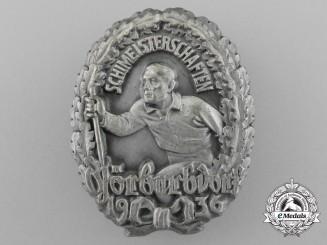A Mint 1936 Görbersdorf Ski Championships Badge