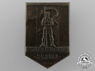 """A 1933 Association for German Cultural Relations Abroad """"Festival of German Schools"""" Badge"""