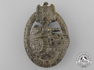 An Early Silver Grade Tank Badge by BH Mayer