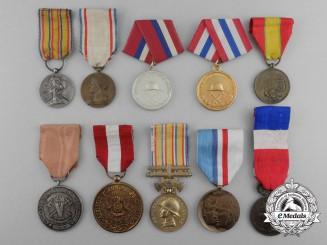 Ten Fire Service Medals