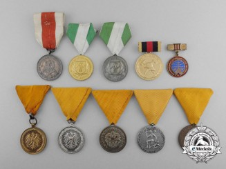Ten European Fire Service Medals