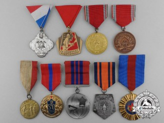 Nine European Fire Service Medals