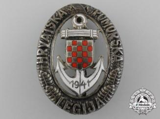 A Second War Croatian Naval Badge; Type II