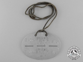 A First War Brunswick Identification Tag