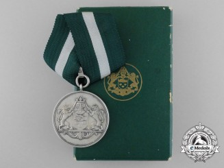A Danish Police Long Service Medal for Twenty-Five Years' Service, Boxed