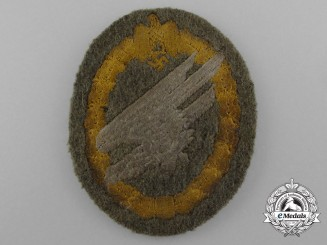 Germany, Heer. An Army Fallschirmjäger Badge, Cloth Version