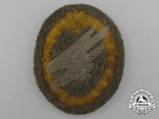 A Scarce Army Fallschirmjäger Badge in Cloth